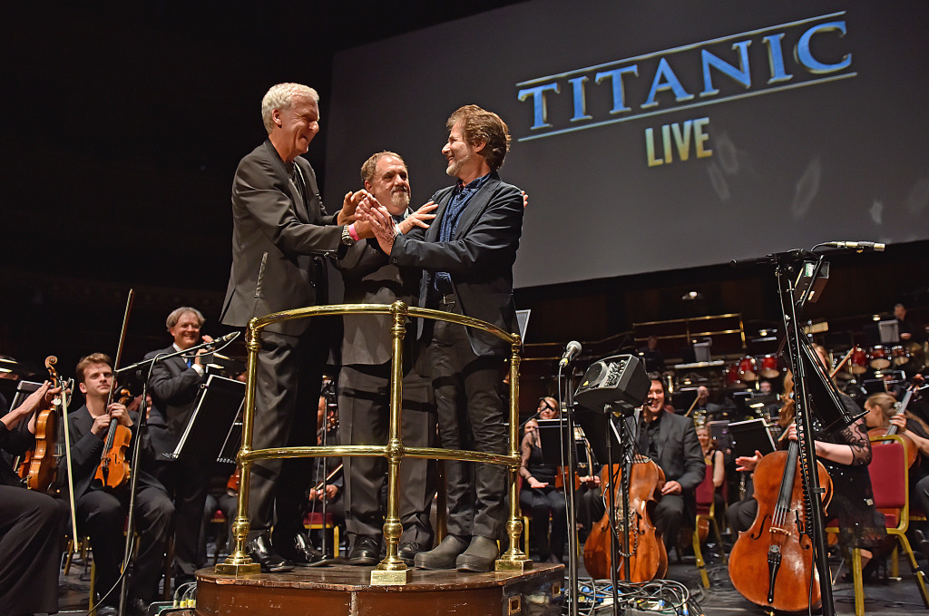 James Cameron, Jon Landau and James Horner.