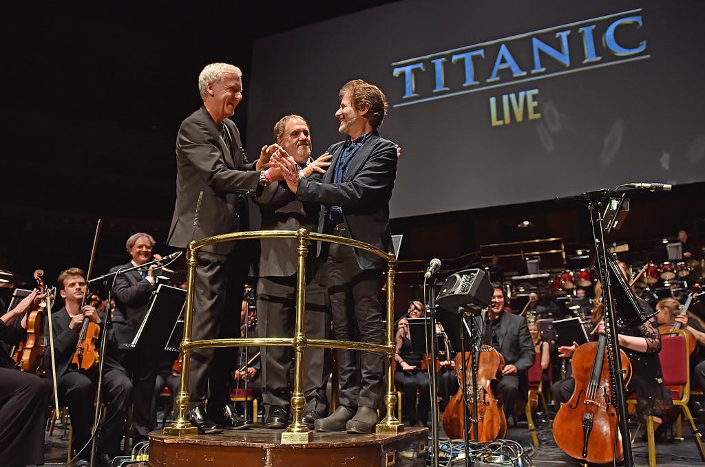 James Cameron, Jon Landau and James Horner.
